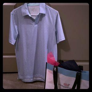 Vineyard Vines Golf Performance Polo &Shopping Bag